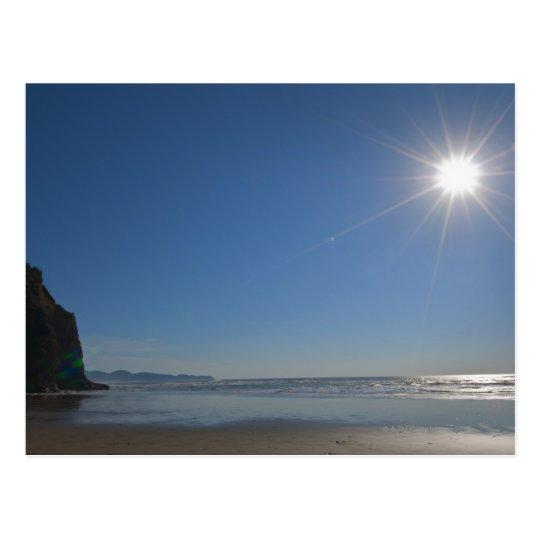 USA, Oregon, Pacific City, sun and beach Postcard