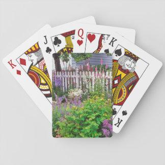 USA, Oregon, Portland. Explosion Of Springtime Playing Cards