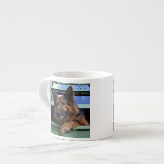 USA, Oregon, Portland. Griff the long-hair Espresso Cup