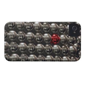 USA, Oregon, Portland. Silver glass Christmas Case-Mate iPhone 4 Cases