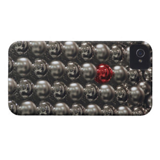 USA, Oregon, Portland. Silver glass Christmas Case-Mate iPhone 4 Case