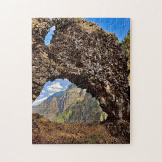 USA, Oregon. Rock Of Ages Arch In Columbia River Jigsaw Puzzle