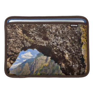 USA, Oregon. Rock Of Ages Arch In Columbia River MacBook Sleeve