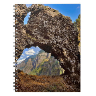USA, Oregon. Rock Of Ages Arch In Columbia River Spiral Notebook