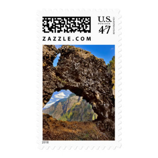 USA, Oregon. Rock Of Ages Arch In Columbia River Postage