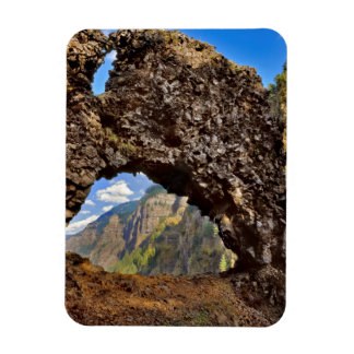 USA, Oregon. Rock Of Ages Arch In Columbia River Rectangular Photo Magnet