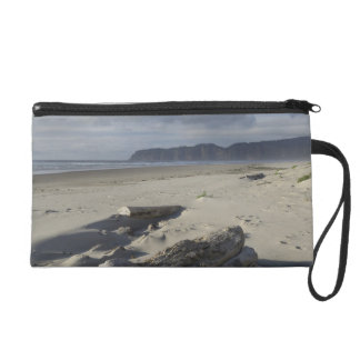 USA, Oregon, Sand Dunes and Ocean, Pacific City 2 Wristlet Purse