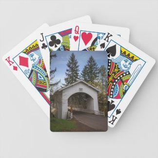 USA, Oregon, Scio, Hannah Bridge 2 Bicycle Playing Cards