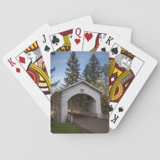 USA, Oregon, Scio, Hannah Bridge 2 Playing Cards