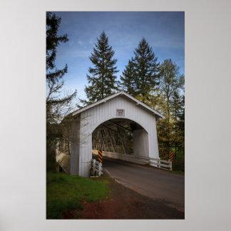 USA, Oregon, Scio, Hannah Bridge 2 Poster
