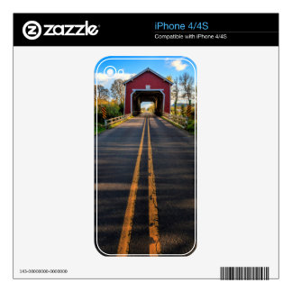 USA, Oregon, Scio, Shimanek Bridge 2 Decal For The iPhone 4S