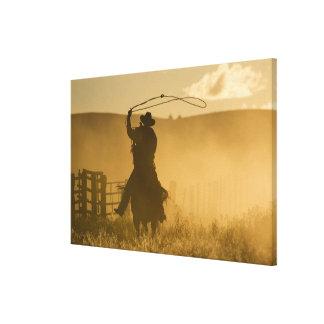 USA, Oregon, Seneca, Ponderosa Ranch. 2 Canvas Print