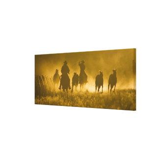 USA, Oregon, Seneca, Ponderosa Ranch. 3 Canvas Print