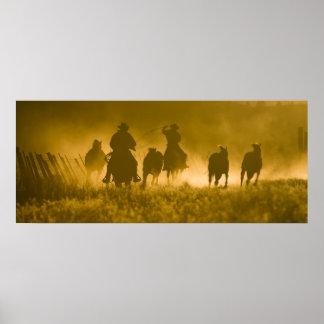 USA, Oregon, Seneca, Ponderosa Ranch. 3 Poster