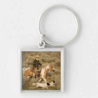 USA, Oregon, Seneca, Ponderosa Ranch. A cowboy Keychains