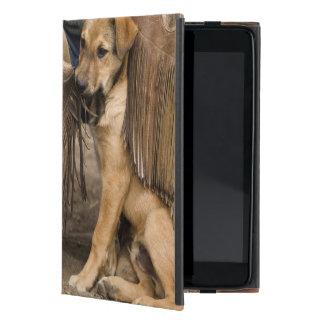 USA, Oregon, Seneca, Ponderosa Ranch. A puppy iPad Mini Case