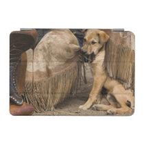 USA, Oregon, Seneca, Ponderosa Ranch. A puppy iPad Mini Cover