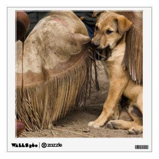 USA, Oregon, Seneca, Ponderosa Ranch. A puppy Wall Decal