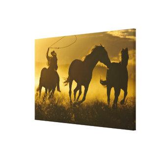 USA, Oregon, Seneca, Ponderosa Ranch. Canvas Print