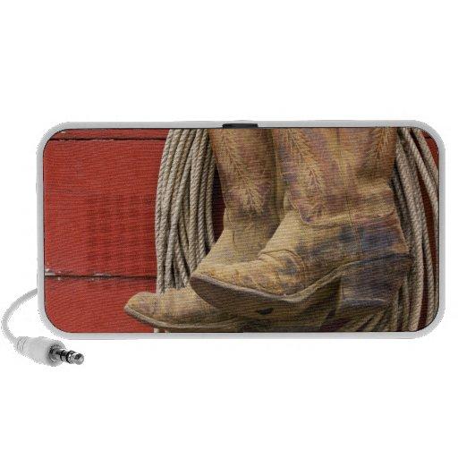 USA, Oregon, Seneca, Ponderosa Ranch. Close-up iPod Speakers