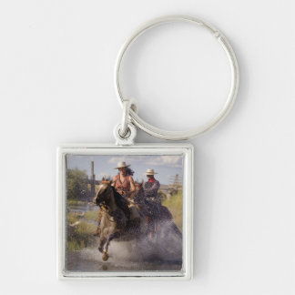 USA, Oregon, Seneca, Ponderosa Ranch. Cowboy 2 Keychain