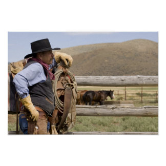 USA, Oregon, Seneca, Ponderosa Ranch. Cowboy 2 Poster