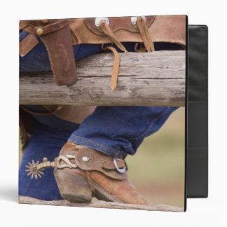USA, Oregon, Seneca, Ponderosa Ranch. Cowboy 3 Ring Binder