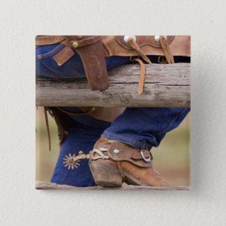 USA, Oregon, Seneca, Ponderosa Ranch. Cowboy Button