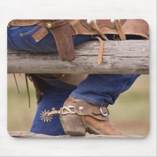 USA, Oregon, Seneca, Ponderosa Ranch. Cowboy Mouse Pad