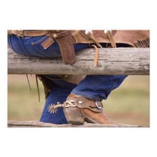 USA, Oregon, Seneca, Ponderosa Ranch. Cowboy Photo Print