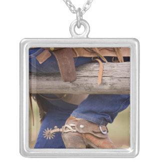 USA, Oregon, Seneca, Ponderosa Ranch. Cowboy Silver Plated Necklace
