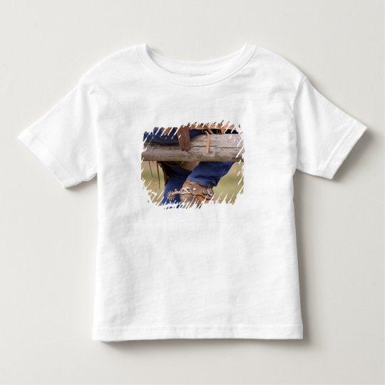 USA, Oregon, Seneca, Ponderosa Ranch. Cowboy Toddler T-shirt
