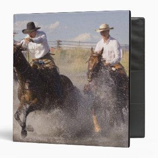 USA, Oregon, Seneca, Ponderosa Ranch. Cowboys 3 Ring Binder