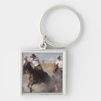 USA, Oregon, Seneca, Ponderosa Ranch. Cowboys Keychain