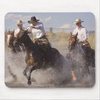 USA, Oregon, Seneca, Ponderosa Ranch. Cowboys Mouse Pad