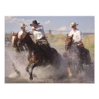 USA, Oregon, Seneca, Ponderosa Ranch. Cowboys Photo Print