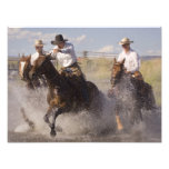 USA, Oregon, Seneca, Ponderosa Ranch. Cowboys Photographic Print