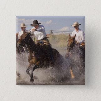 USA, Oregon, Seneca, Ponderosa Ranch. Cowboys Pinback Button