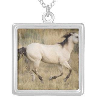 USA, Oregon, Seneca, Ponderosa Ranch. Horse Square Pendant Necklace