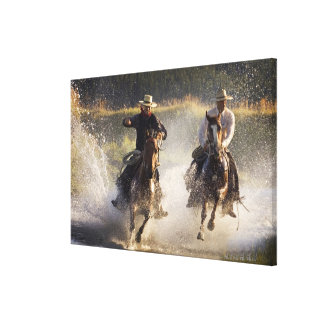 USA, Oregon, Seneca, Ponderosa Ranch. Two Canvas Print