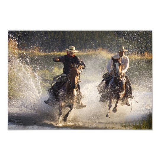 USA, Oregon, Seneca, Ponderosa Ranch. Two Photo Print