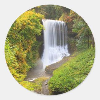 USA, Oregon, Silver Falls State Park 3 Classic Round Sticker