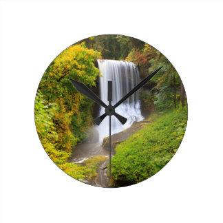 USA, Oregon, Silver Falls State Park 3 Round Clock
