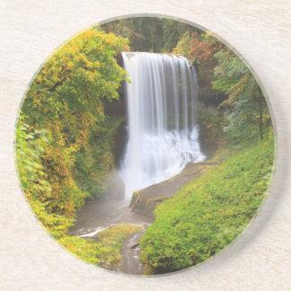 USA, Oregon, Silver Falls State Park 3 Sandstone Coaster
