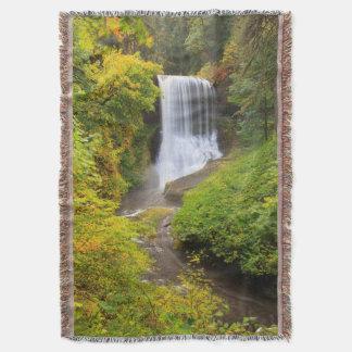 USA, Oregon, Silver Falls State Park 3 Throw Blanket
