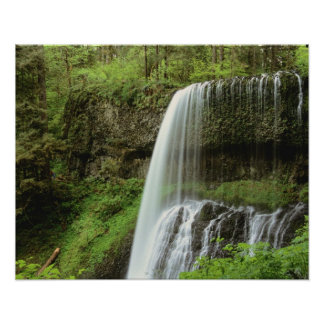USA, Oregon, Silver Falls State Park. Lower Poster