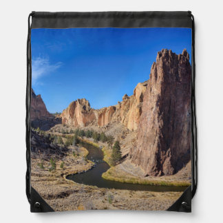 USA, Oregon, Smith Rock State Park Drawstring Bag
