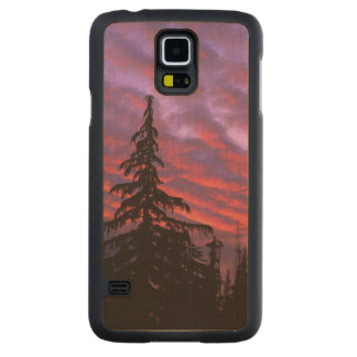 USA, Oregon, Three Sisters Wilderness, Vivid Carved® Maple Galaxy S5 Case