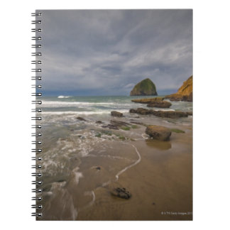 USA, Oregon, Tillmook County, Beach with Notebook