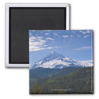USA, Oregon, View of Mount Hood 2 Inch Square Magnet